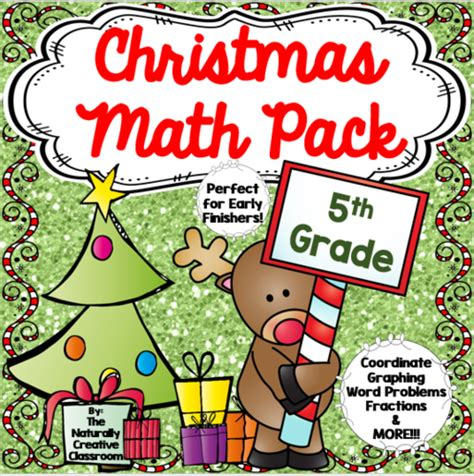 christmas math and literacy pack by us teacher lessons tes