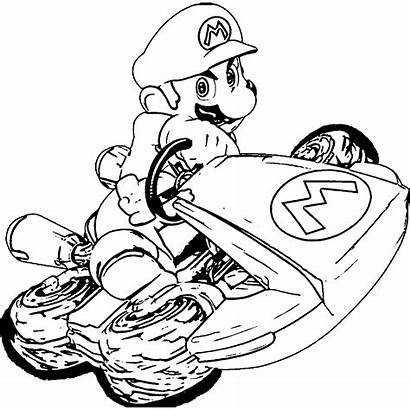 Mario Kart Coloring Pages Super Colouring Yoshi