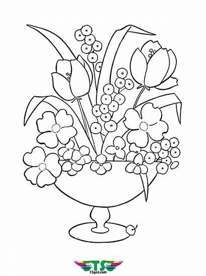 Coloring Flower Printable Pages Printables Ladybug Tsgos