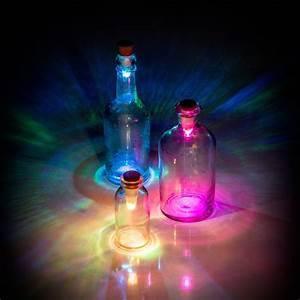 Flaschenkorken Mit Led : led flaschenlicht multicolor ~ Watch28wear.com Haus und Dekorationen