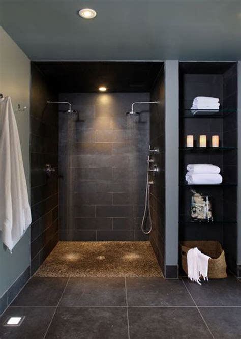36 black shower tile ideas and pictures