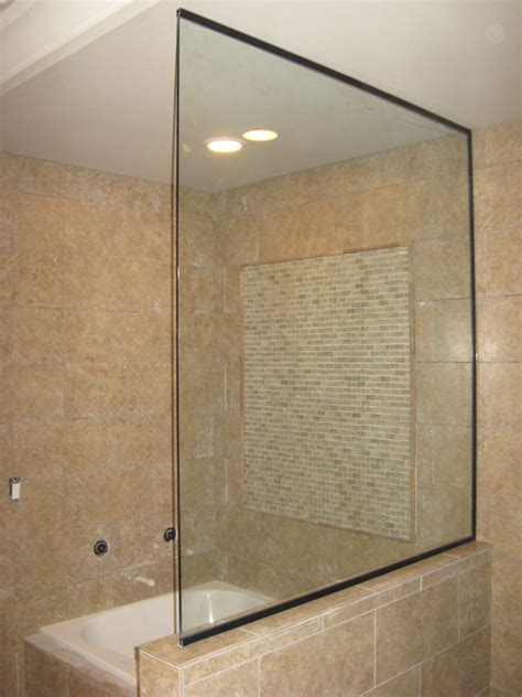 open glass shower glass frameless glass panels shower doors in portland or esp supply inc mirror and glass