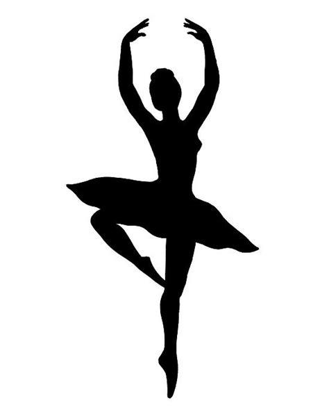 ballerina silhouette printable  getdrawings