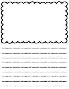 lined copy paper  picture box kids google search