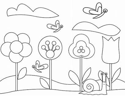 Coloring Pages Gardening Garden Flower Tools Spring