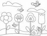 Coloring Gardening Flower Tools Flowers Spring Printable Gardens Sheets Vegetable Butterflies Colouring Warna Getcolorings Bunga Preschool Disimpan Dari sketch template