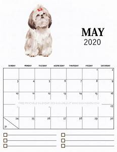 cute june 2020 calendar printable free printable monthly calendar 2020 in cute dog theme