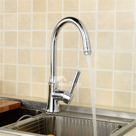 top rated kitchen faucets silver chrome single handle