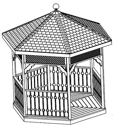 custom gazebo plans  ft hexagon step  step