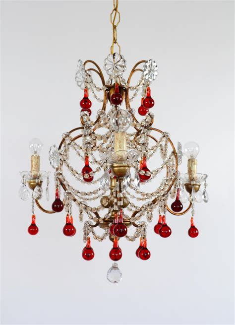 italian murano glass drop chandelier 1950s for sale at pamono