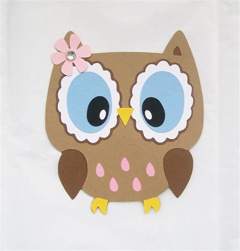 owl die cut owl with open eyes owl decor on luulla