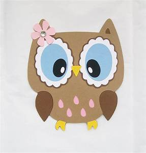 Owl die cut owl with open eyes owl decor on luulla for Owl decor