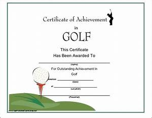 Golf Certificate Template Free Printable Golf Gift Certificate Template