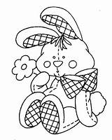 Coloring Pages Bunny Easter Patterns Embroidery Rabbit Printable Rabbits Printables Para Colouring Stuffed Painting Colour Pintar Stamps Hand Stitch Stencils sketch template