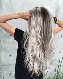 Ombre Hair Blond Polaire : 19 stunning silver hair color ideas ombre balayage highlights ~ Nature-et-papiers.com Idées de Décoration