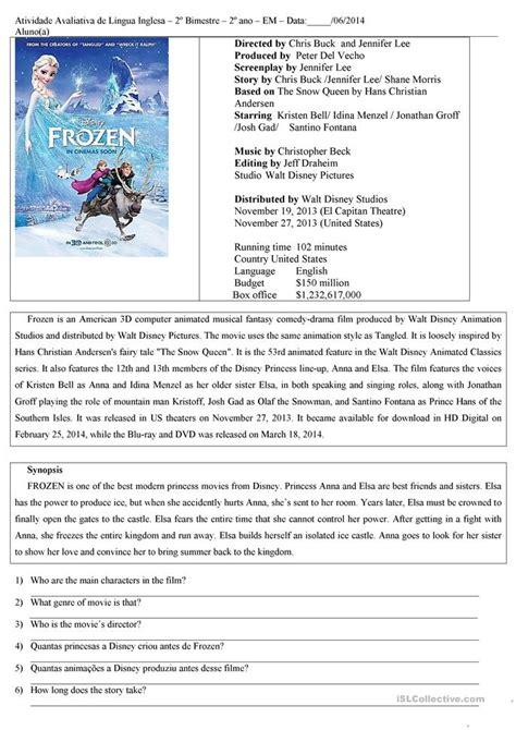 frozen worksheet free esl printable worksheets made