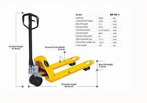 Narrow Heavy Duty Manual Pallet Jack 5500 Lbs Capacity 48