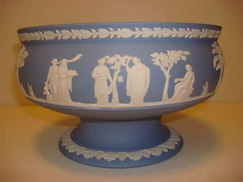 wedgwood light blue jasper footed large bowl
