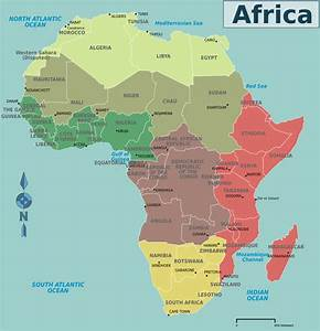 Africa Countries Map - Mapsof.net (Libya, Egypt are in ...