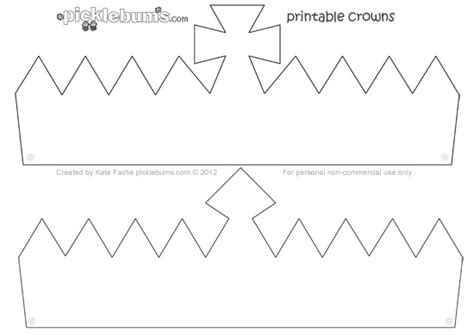 free printable tiara template make a crown free printable crown template picklebums