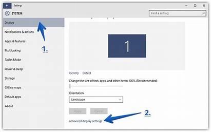 Windows Settings Display Advanced Screen Resolution Change