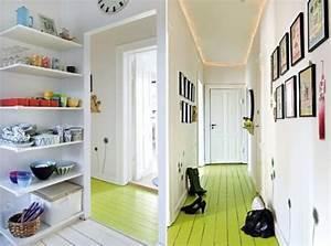50 idees deco de parquet peint With peindre un couloir en 2 couleurs 2 salonsalle 224 manger peinture 2 couleurs
