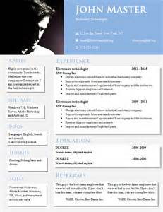 Free Creative Resume Template Word Doc
