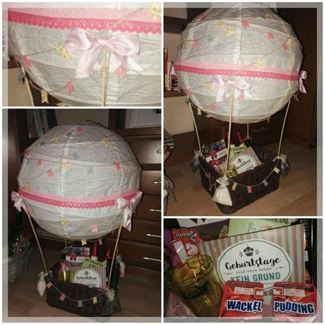 heissluftballon ballon geschenk geldgeschenk geburtstag