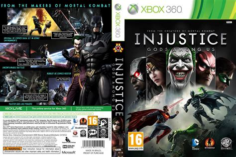 injustice gods among us cover injustice gods among us xbox 360 game covers injustice
