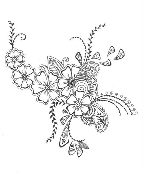 drawing wall designs floral drawings cliparts co
