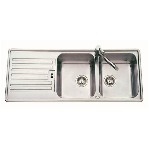 bowl drainer kitchen sink everhard 780mm nugleam lh single