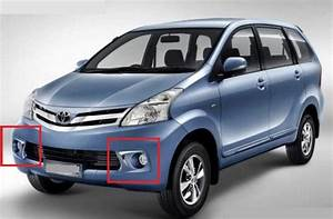 Chrome Front Fog Lamp Covers For Toyota Avanza 2012
