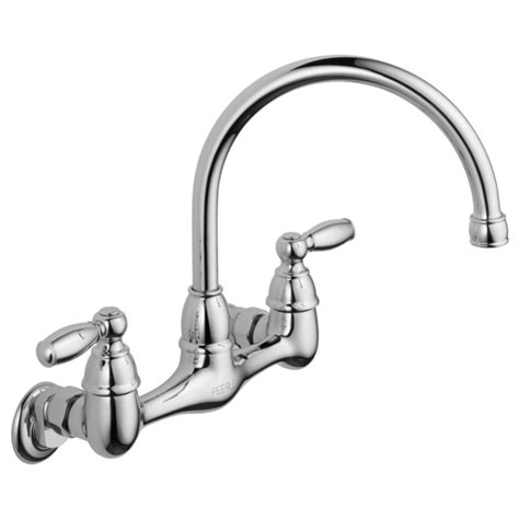 Wall Mounted Faucet Kitchen by P299305lf Two Handle Wall Mounted Kitchen Faucet