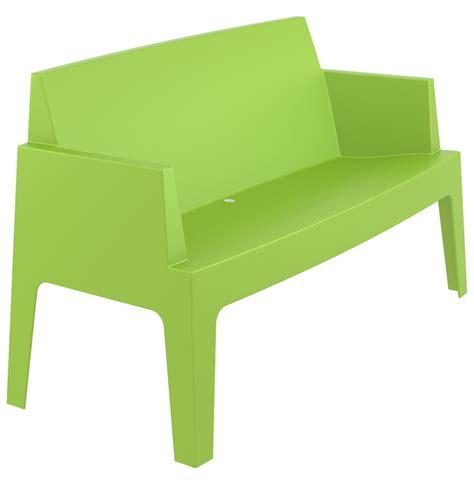 banc de jardin design plemo xl vert en mati 232 re plastique