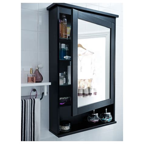 Bathroom Wall Cabinet With Mirror by Ikea Hemnes Mirror Cabinet With 1 Door Black Brown Stain