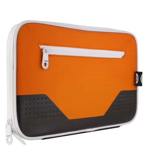 housse de raquette de tennis de table stiga stage orange silver equipment