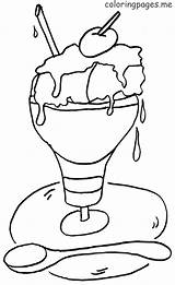 Ice Cream Coloring Pages Parlor Coloringtop sketch template