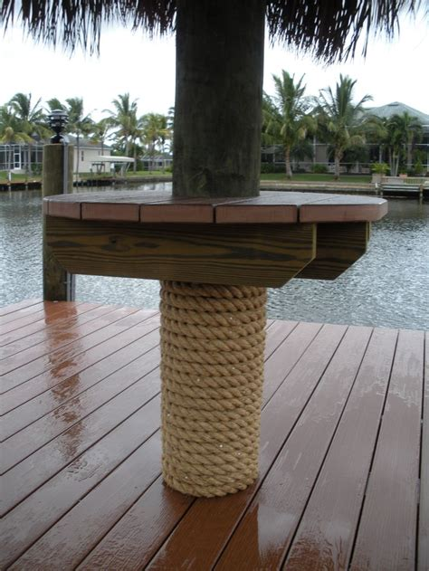 tandeck recycled plastic decking tiki table honc docks