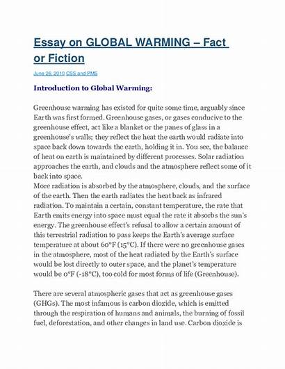 Warming Essay Global Css Pms Fact Fiction