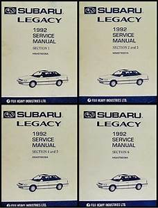 1993 Subaru Legacy Repair Shop Manual Supplement Original