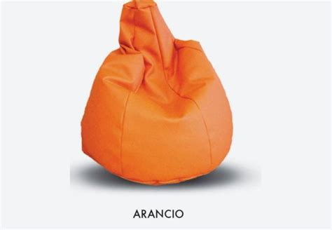 Elegant Poltrona Sacco Pouf Per Bambini Arancione With