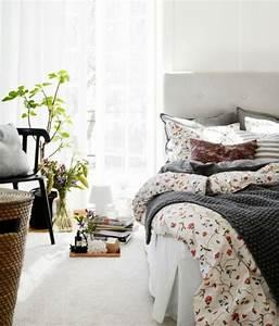 decoration chambre a coucher pour accueillir le printemps With chambre bébé design avec draps fleurs