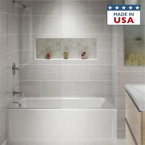 Shop Jacuzzi Primo 60 In White Acrylic Alcove Bathtub With