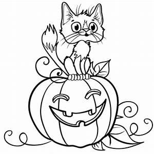 Citrouille Halloween Dessin : halloween chat et citrouille coloriage halloween chat et ~ Melissatoandfro.com Idées de Décoration