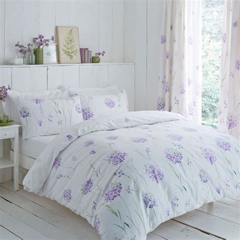 lilac floral pencil pleat curtains