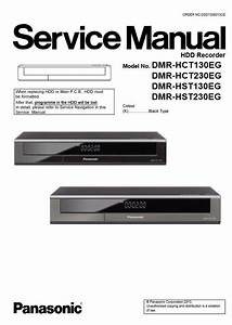 Panasonic Dmr Hct130 Hct230 Hst130 Hst230 Hdd Recorder