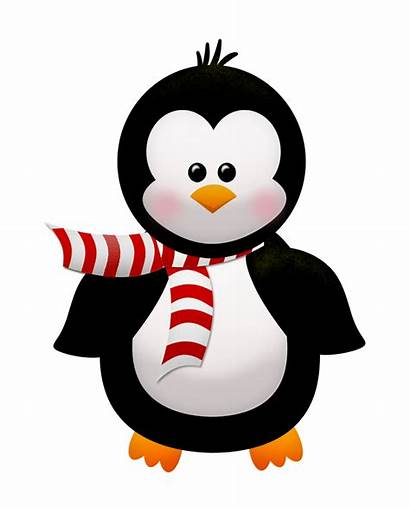 Winter Clip Penguin Penguins Clipart Flowers Cartoon