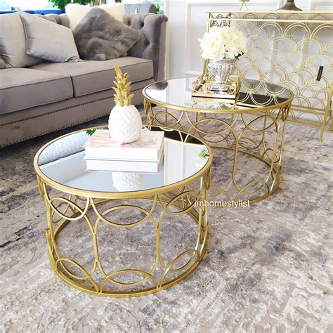 Made entirely of metal, the frame has a bronze finish whereas the tabletop has a gunmetal finish. CITTERIO GOLD ROUND COFFEE TABLE (SET) - IMhomestylist