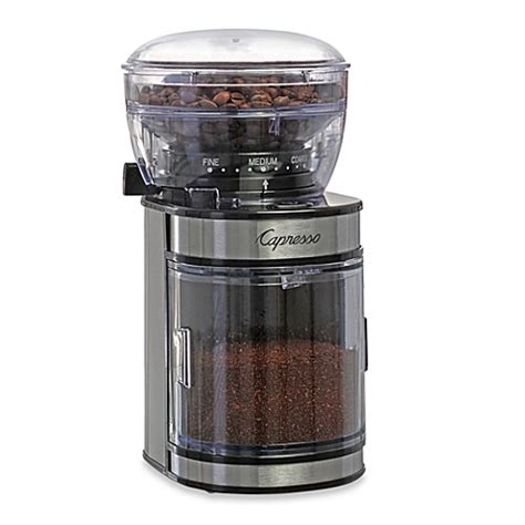 Capresso® Ceramic Burr Grinder with Stainless Steel Housing   Bed Bath & Beyond