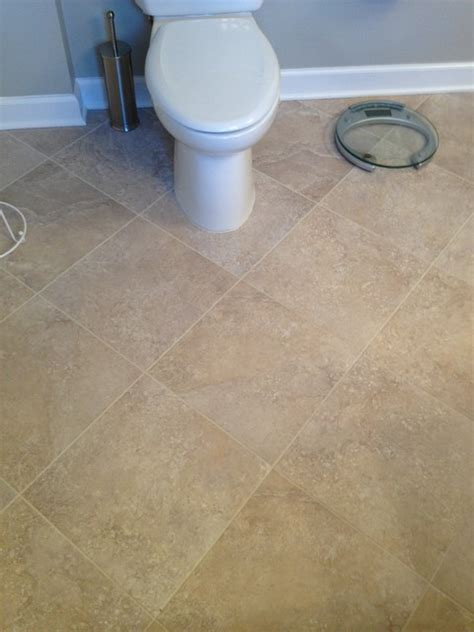 tile vinyl and laminate contemporary bathroom